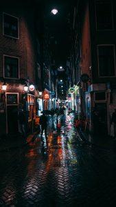Narrow Amsterdam Street