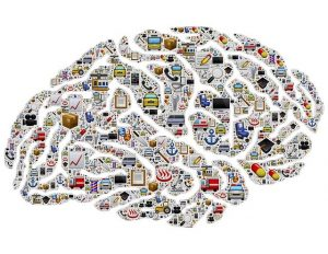graphic of brain with lots of thing going on