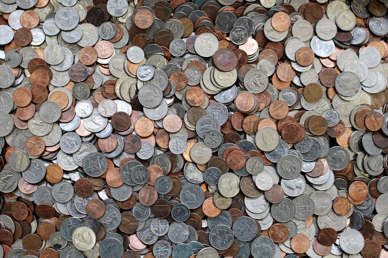 photo filled with of lots of coins