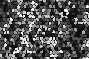 Same mosaic tiles in gray scale