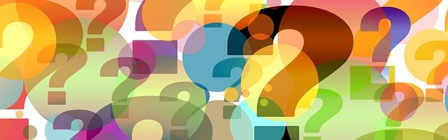 graphic of colorful question marks